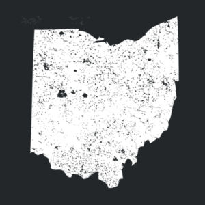 Distressed Ohio - Adult Tri Blend T Design
