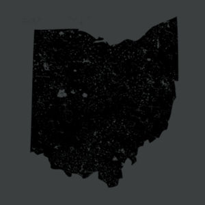 Distressed Ohio - Adult Tri-Blend 3/4 T Design