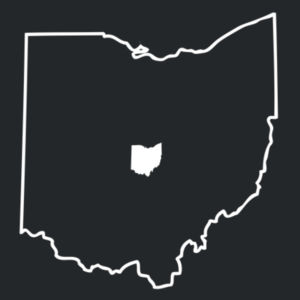 Ohio Outline - Adult Tri Blend T Design
