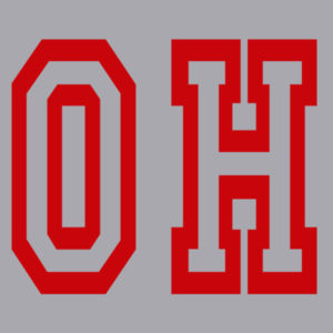 OH - Juniors Lightweight Raglan Sweatshirt Design