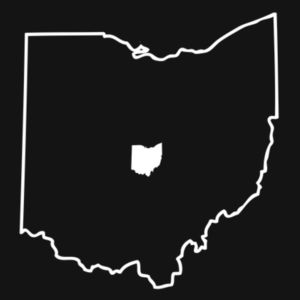 Ohio Outline - Ladies Varsity V-Neck T Design