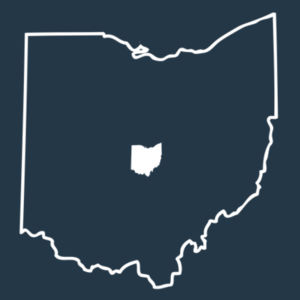 Ohio Outline - Adult Ringer Tank Design